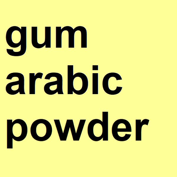 Gum arabic powder, pure